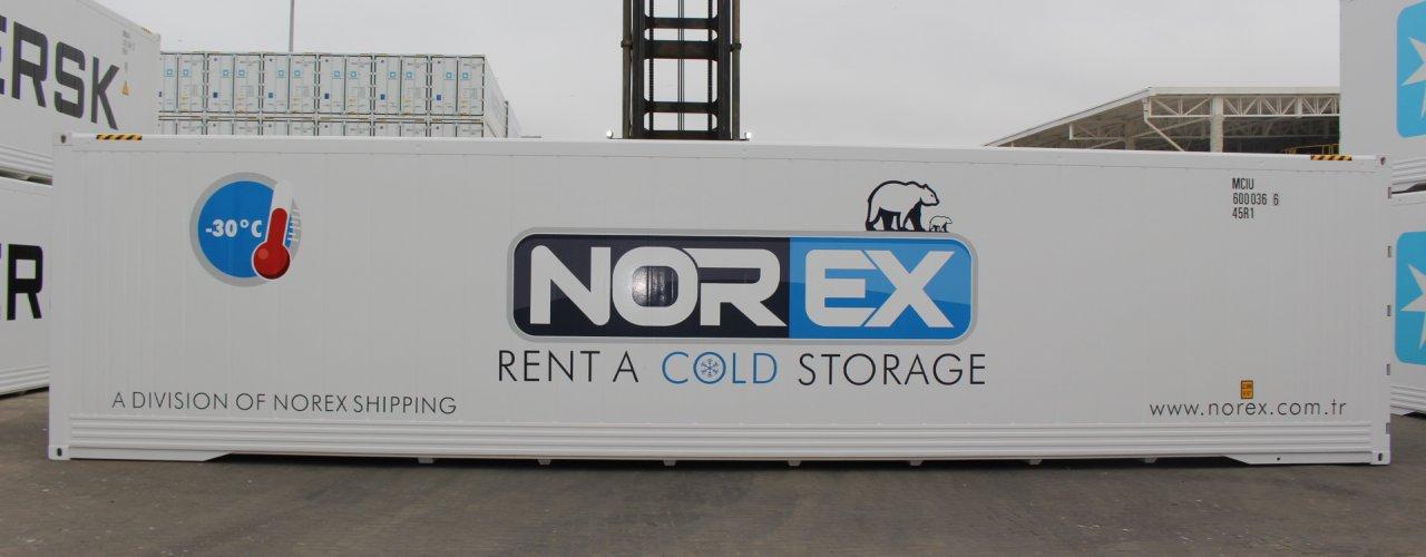 Yurtdışında Norex için özel üretilen sıfır reefer soğutuculu konteynerimiz Türkiye ye gelmek üzere yola çıktı