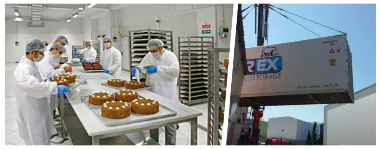 Pasta ve Kekler Norex Cold Store ile Daha Taze