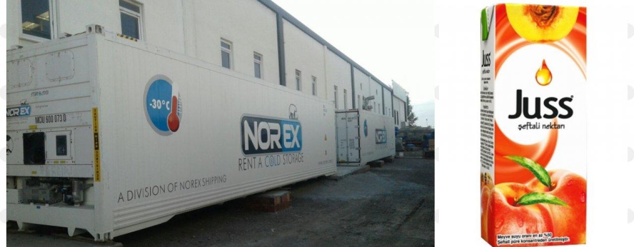 Akdeniz Bölgesinde Meyve Suyu Üreten Müşterimiz Soğuk Hava Depo ihtiyacını Norex ile Çözdü