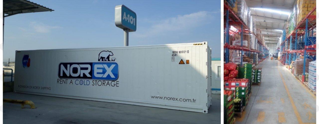 Lider Süper Market Zinciri A 101 Akdeniz Deposu için Norex Mobil Soğuk Hava  Deposunu Kiraladı