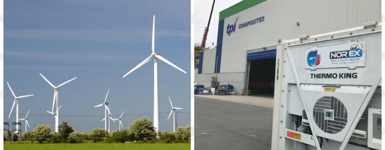 Tpi Composite İzmir Fabrikası Norex Mobil Soğuk Hava Depolarını Kiraladı
