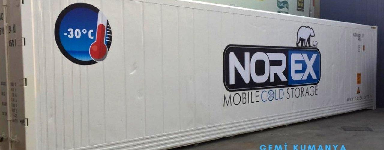 Gemi Kumanya Firması Müşterimiz 40 hc Mobil Soğuk Hava Konteynerimizi Kiraladı