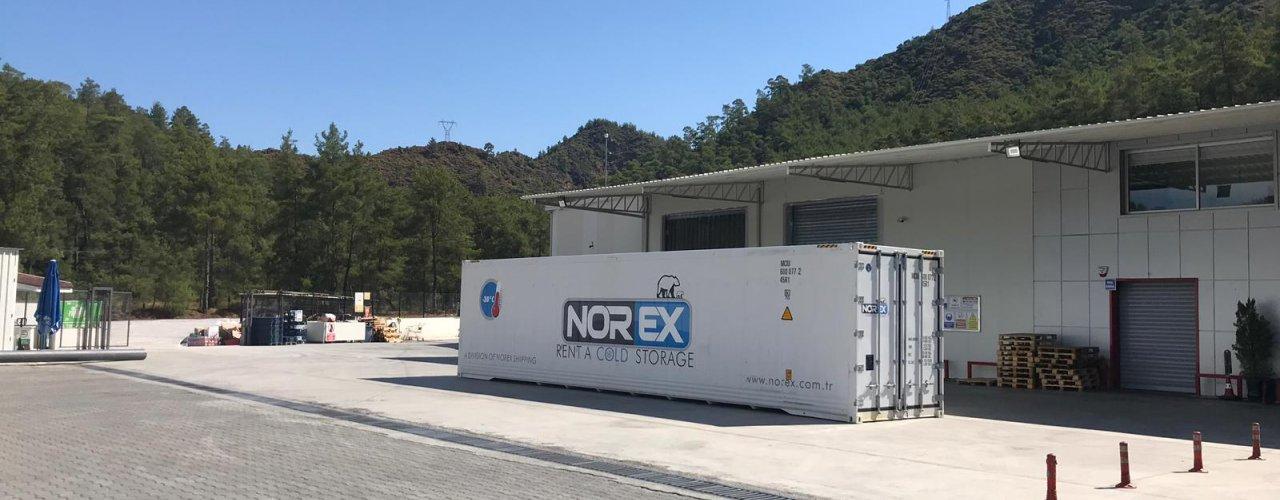 Ege bölgesinin Lider Toptan Gıda Firması Norex Mobil Soğuk Hava Deposunu Kiraladı
